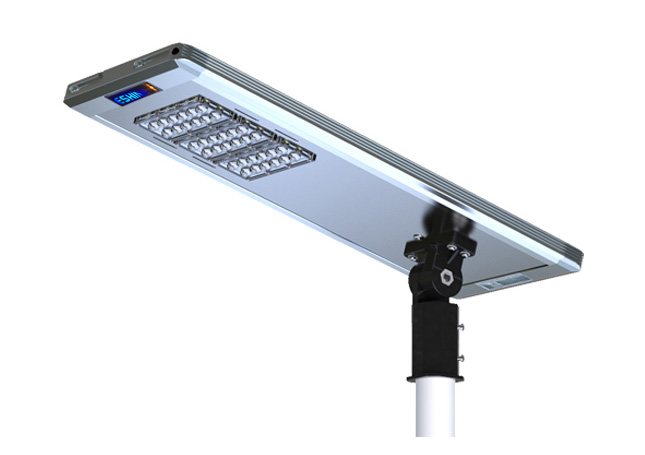 40W All in one solar led street light installation