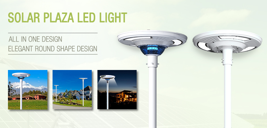 NEW Arrival ! Patent Design Solar Plaza Led Light